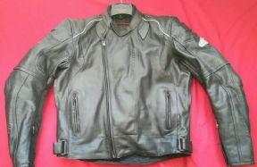 "HEIN GERICKE TFL COOL LEATHER MOTORCYCLE JACKET UK 40"" to 41"" CHEST  SIZE EU 54"